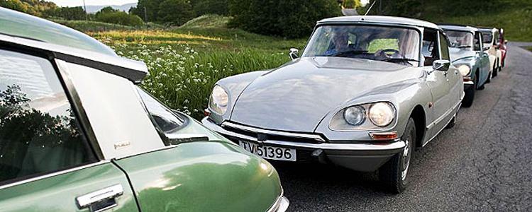 Citroën DS i kø